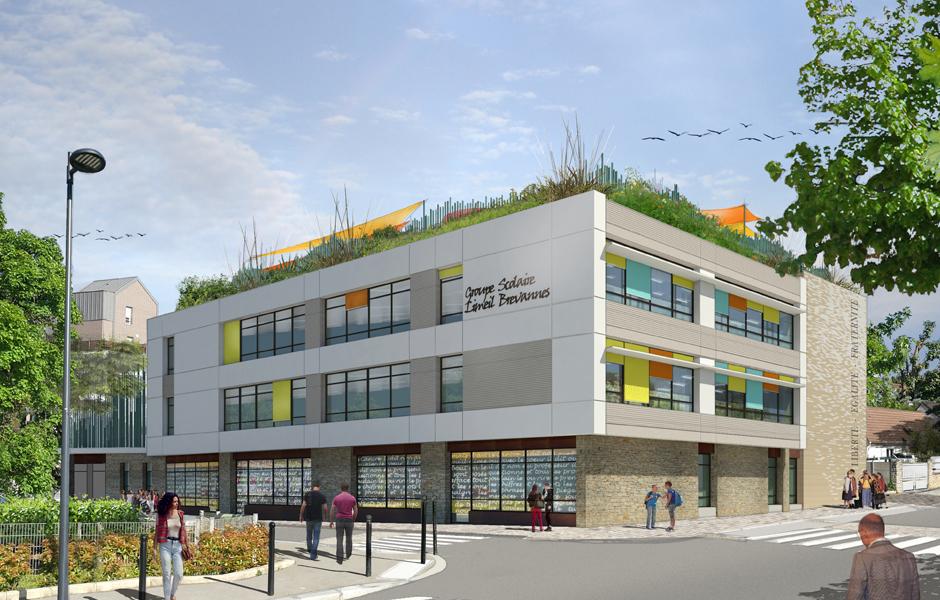 a5a architectes, concours lauréat groupe scolaire limeil brevannes